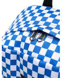 メンズ Vans チェック バックパック Blue