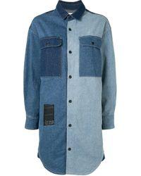 Robe bicolore en jean Izzue en coloris Blue