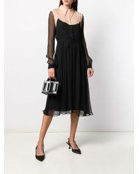 N°21 シアーディテール シャツドレス Black