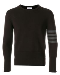 Thom Browne Brown 4-bar Milano Stitch Pullover for men
