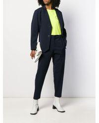 Pantaloni affusolati con stampa di Issey Miyake in Blue