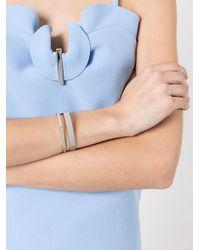 Bracelet torque 8mm Dalhia Ivi en coloris Gray