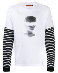 Vyner Articles White Spray-print Layered T-shirt for men