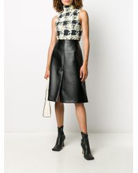 PROENZA SCHOULER WHITE LABEL Multicolor Painted Gingham Print Sleeveless Top