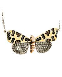 Astley Clarke - Metallic Crimson Speckled Moth Necklace - Lyst