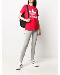 Adidas バイカラー レギンス Gray