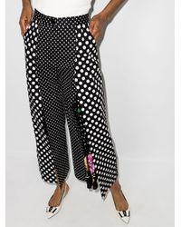 Dolce & Gabbana Black Palazzohose mit Polka Dots