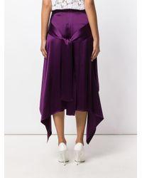 Sies Marjan アシンメトリースカート Purple