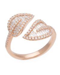 Anita Ko - Metallic Rose Gold Small Leaf Ring - Lyst
