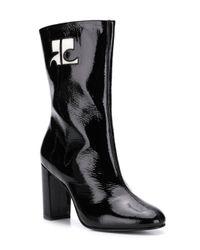 Courreges Black Colour Contrast Boots