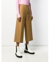 Pantalon droit crop Marni en coloris Brown