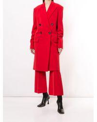 Укороченные Расклешенные Брюки Proenza Schouler, цвет: Red