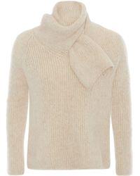 メンズ J.W. Anderson ショールカラー セーター Natural