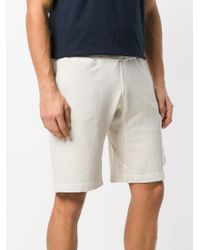 Stone Island Natural Classic Fitted Shorts for men