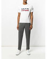 T-shirt con logo di Moncler Gamme Bleu in White da Uomo
