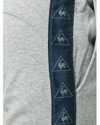 Le Coq Sportif Gray Tricolour Tennis Track Pants for men