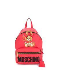 Mochila Teddy Bear Moschino de color Red