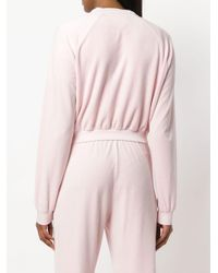 Juicy Couture Pink Exclusive Swarovski Embellished Velour Crop Track Jacket