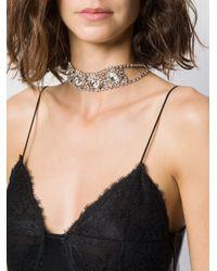 Collier ras du cou orné de cristaux Alessandra Rich en coloris Metallic