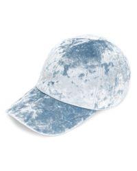 Federica Moretti - Blue Velvet Cap for Men - Lyst