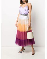 Gonna in tulle con design color-block di Viktor & Rolf in Multicolor