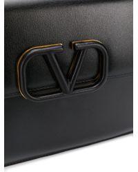 Valentino Garavani Vスリング クラッチバッグ Black