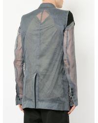 Rick Owens - Gray Deconstructed Blazer for Men - Lyst