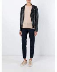 J Brand - Blue Straight Leg Cropped Jeans - Lyst