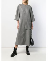 Toogood Gray Short-sleeve Oversized Dress