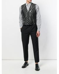 Haider Ackermann Black Polka Dots Printed Waistcoat for men