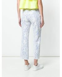 MSGM White Lace Cropped Trousers