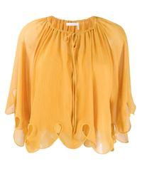 Blusa con collo lavallière di See By Chloé in Multicolor