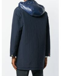 Thom Browne Blue Down-filled Solid Enshuku Nylon Tech Parka for men
