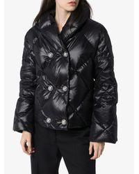 Balmain ショールカラー パデッドジャケット Black