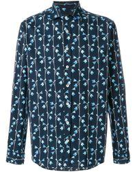 Рубашка С Цветочным Принтом Etro для него, цвет: Blue