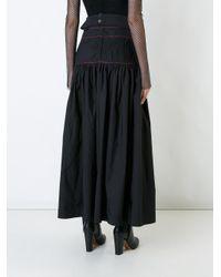 Ellery Black Pleated Maxi Skirt