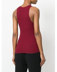 Theory Red Racerback Knitted Tank Top