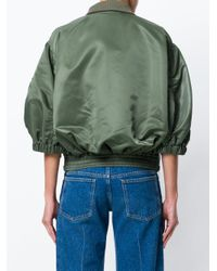 Sacai Green Military Bomber Fusion Jacket