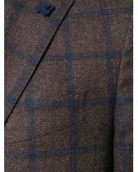 Lardini - Brown Patterned Single Breasted Blazer for Men - Lyst