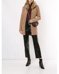 Fabiana Filippi ファーカラー コート Multicolor