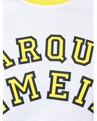 Marques'Almeida White Tulle Sleeve T-shirt