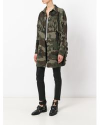 Faith Connexion Green Tassel Detail Camouflage Jacket
