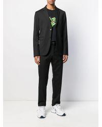 メンズ SSS World Corp コントラスト Tシャツ Black