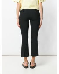 Theory Black Slim Cropped Culottes
