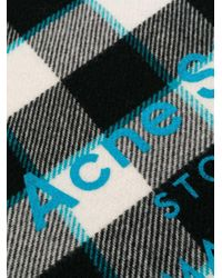 Acne Cassiar チェックスカーフ Black