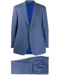 メンズ Canali スリムフィット ジャケット Blue
