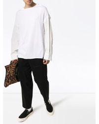 メンズ Bed J.w. Ford ボタンスリーブ Tシャツ White