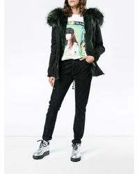 Mr & Mrs Italy - Black Fur-lined Cotton Parka - Lyst
