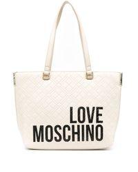 Love Moschino ロゴ ハンドバッグ White