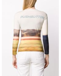 Pushbutton プリント トップ Multicolor